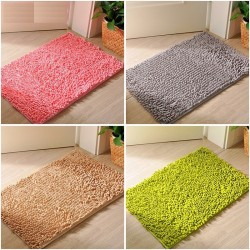 Soft fluffy bathroom mat - floor carpet
