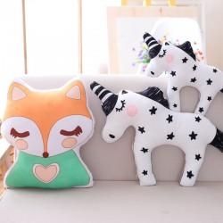 cute unicorn fox stuffed baby toys - soft kawaii animal shaped pillow - cartoon doll - child cushion gift