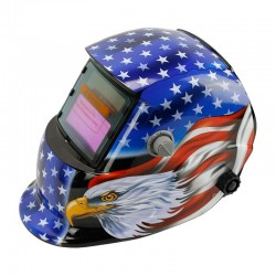 Welding helmet - auto darkening - adjustable - solar - eagle / stars