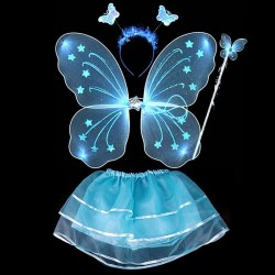 Butterfly fairy costume - dress - wings - and - headband - 4 pieces set