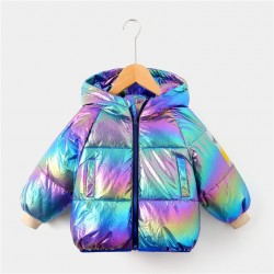 Duck down jacket with hood - for kids