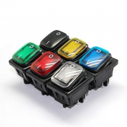 4 Pin DPST - T85 - car & boat toggle - rocker switch with LED - waterproof