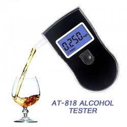 professional alcohol tester - police LCD display digital breath - breathalyzer for the drunk drivers alcotester