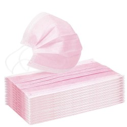 Medical mouth/face mask - disposable - anti bacterial - pink