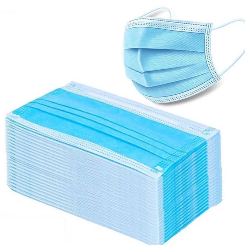Mascarillas desechables para la cara / boca - 3 capas - antipolvo - antibacteriano