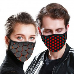 PM2.5 - 5-layers anti dust face / mouth mask with 3D pattern