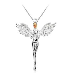 Innocent Angel Pendants Necklace - Gold/Silver