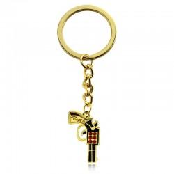 Gold Gun Keychain