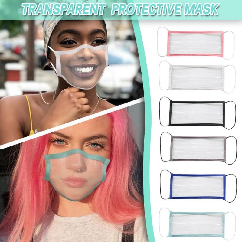 Antibacterial face mask - transparent mouth cover - lip reading - mask