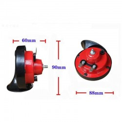 Car motorcycle electric horn - 2pcs - red