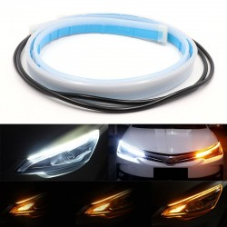 Dual colour led strip light - 2pcs - white & yellow - car