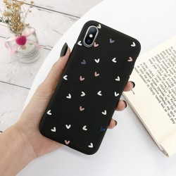 Silicone case for iPhone - back cover - love hearts