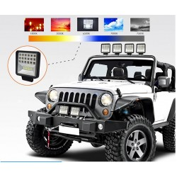 LED bar - spot light lamp for off-road cars - tractors - SUV - trucks - 72W - 126W / 12V - 24V