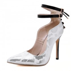 Sexy pumps - white - women - buckle strap