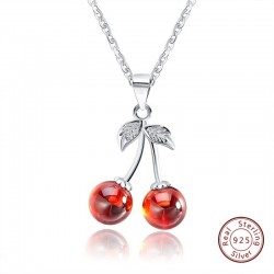 Double cherry - necklace - ring - earrings - bracelet - 925 sterling silver