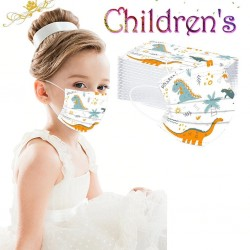 50 pieces - disposable antibacterial medical face mask - kids mouth mask - 3-layer - animal print