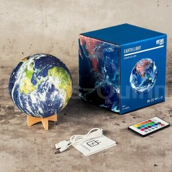 3D earth - galaxy night lamp - rechargeable