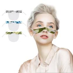 Transparent mouth shield - plastic half mask - lip reading