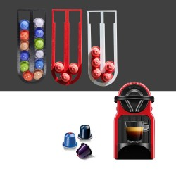 Nespresso coffee capsules holder with self adhesive sticker