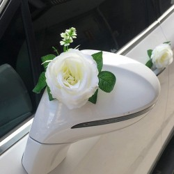 Rose - Artificial Flower- Wedding Car Decoration - Bridal Car