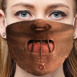 Dust-proof - anti-pollution - face mask - adjustable - cotton - funny print