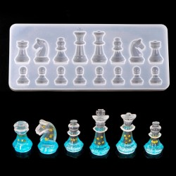 Silicone Mold - Resin - International Chess Shape - DIY