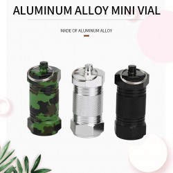 2Pcs - Metal Medicine Box - Pill Capsule - Waterproof - Outdoor - Key ring