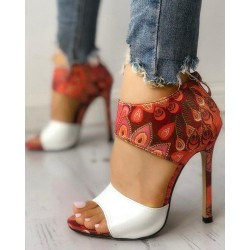Thin Heeled - Sandals - High Heels - White