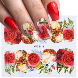 Nail art stickers with flowers