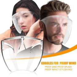 Protective transparent mouth / face mask - plastic shield - goggles - reusable