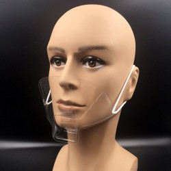 50Pcs/Box - Mask - Food Hygiene - Plastic - Waterproof Face Shield