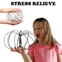 Flow ring - kinetic spring - fidget spinner - metal anti-stress toy
