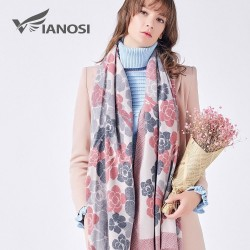 Luxurious printed cashmere scarf