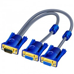 VGA Splitter Cable - Male To Dual Female