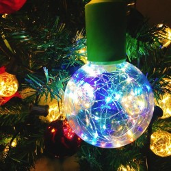E27 1.7W - LED RGB bulb - dimmable - Christmas decoration