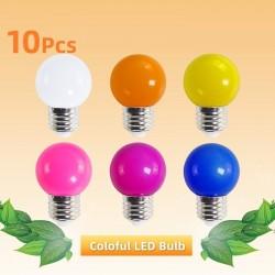 E27 3W AC 220V SMD 2835 - colourful RGB LED bulb - 10 pieces
