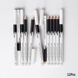 White eye pencil - eyeliner - 12 pieces