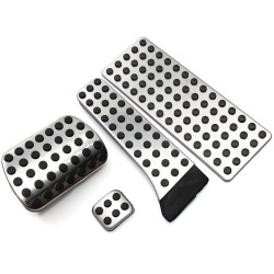 Stainless steel pedals covers for Mercedes Benz C E S GLK SLK CLS SL-Class W203 W204 W211 W212W210 AMG