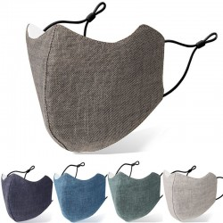 PM2.5 anti-bacterial face / mouth protective mask - reusable - washable - cotton