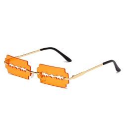 Vintage metal sunglasses - UV400 - razor blade shape