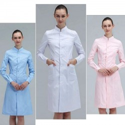 Long-sleeve work coat - lab / spa / beauty salons / hospital