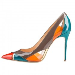 Multi colored stiletto heels