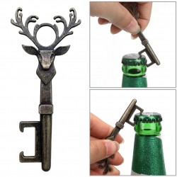 Retro bottle opener - key - deer head