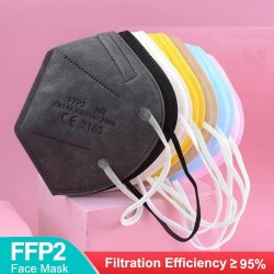 FFP2 - KN95 - PM2.5 - antibacterial protective mouth / face mask - 5-layer - reusable - 10 / 20 / 50 / 100 pieces