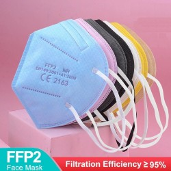 FFP2 - KN95 - PM2.5 - antibacterial protective mouth / face mask - 5-layer - reusable - 10 / 50 / 100 pieces