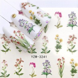 Nail art stickers - water transfer - flowers - fairy - eyes - lace