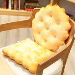 Golden biscuit shaped pillow - plush toy - circular - square