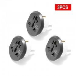 AU / US / UK / CN to EU converter - adapter - EU plug - 16A - 250V - 3 / 5 / 7 / 9 / 20 pieces