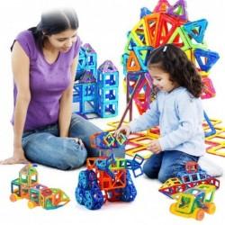 Mini magnetic building blocks - construction set - plastic