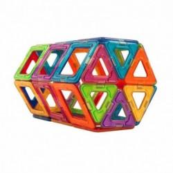 Mini magnetic building blocks - construction set - 50 pieces